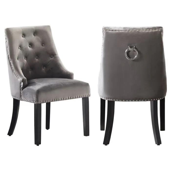lot 6 chaise gris