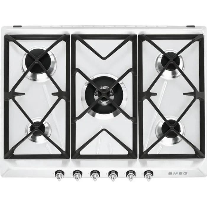 smeg sr975bgh plaque de cuisson au gaz 70 cm blanc