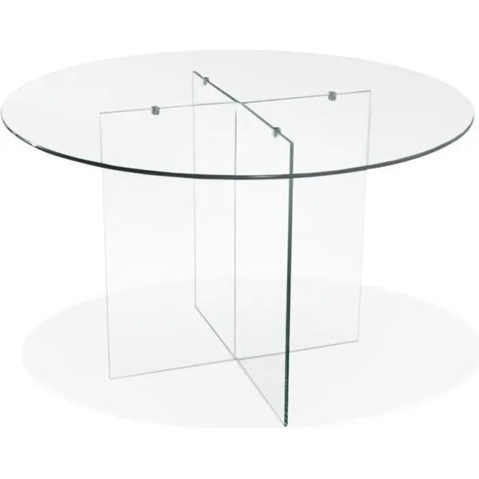 table de salle a manger ronde en verre bobby table round design o 120 cm