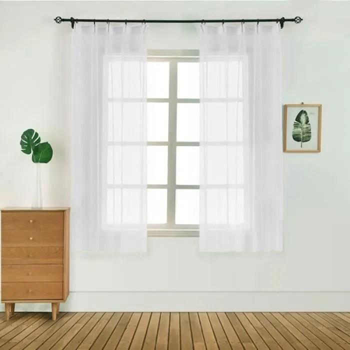 rideaux courts pour cuisine rideaux en voile solid