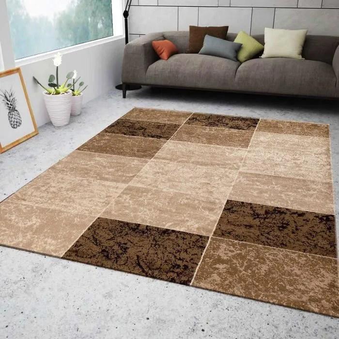 tapis salon marbre beige 120x170 cm