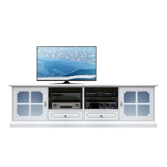meuble tv avec vitre bleue achat