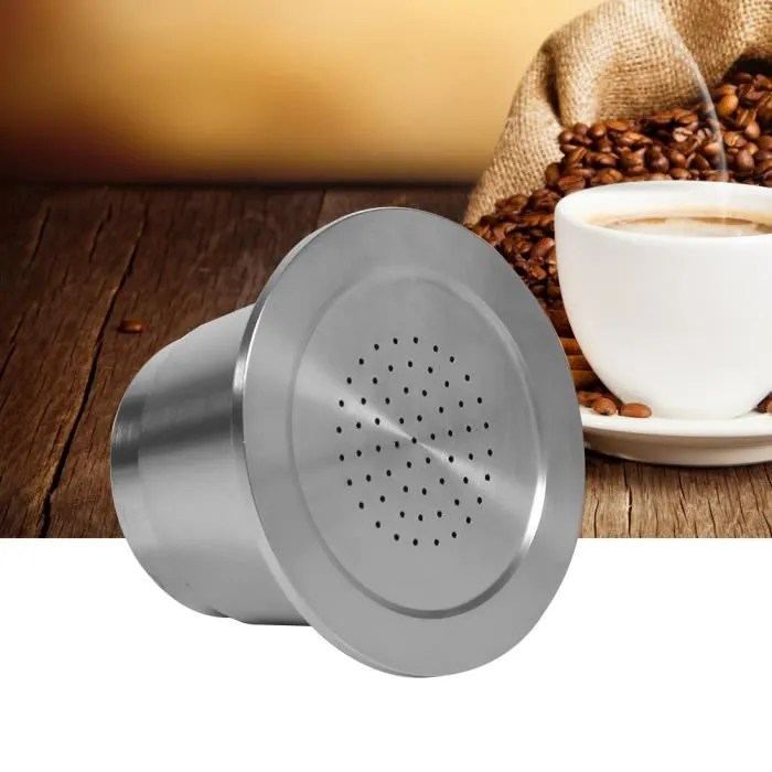 capsule de cafe en inox capsule reutilisable de nespresso