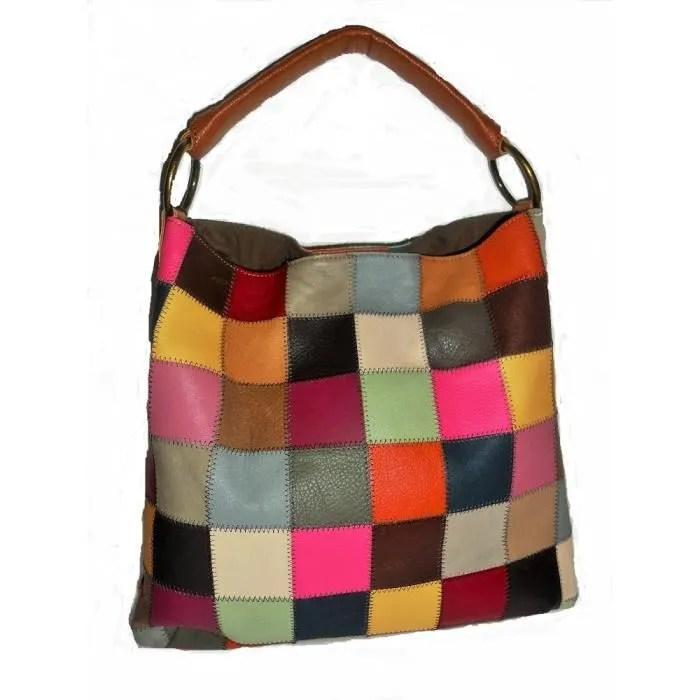 kooba cuir multicolore patchwork epaule sac a main sac jkpgd