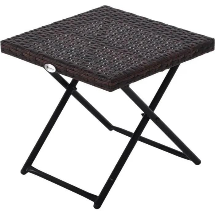 table basse pliable de jardin style cosy chic dim