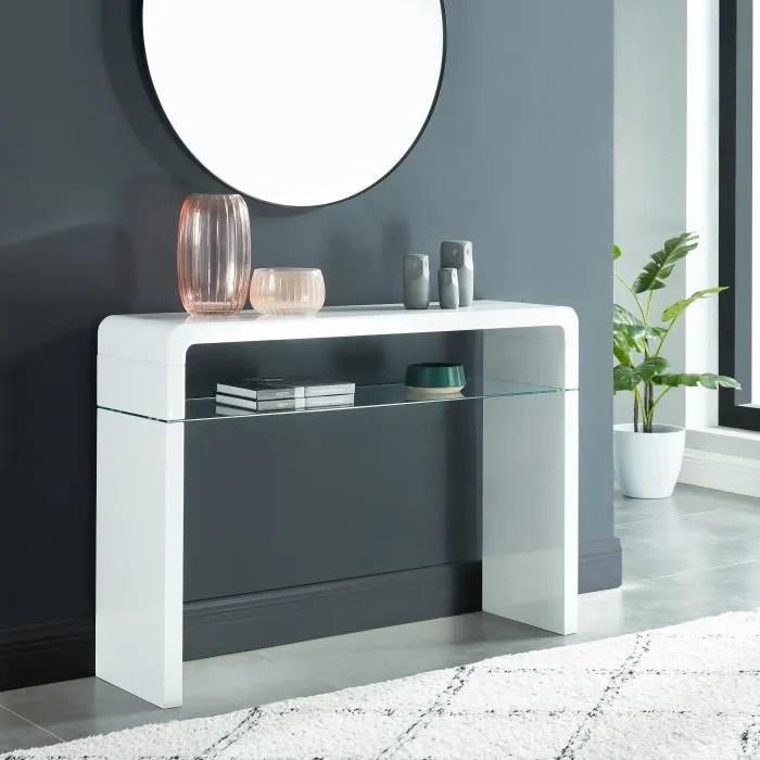 meuble console blanc avec tiroir