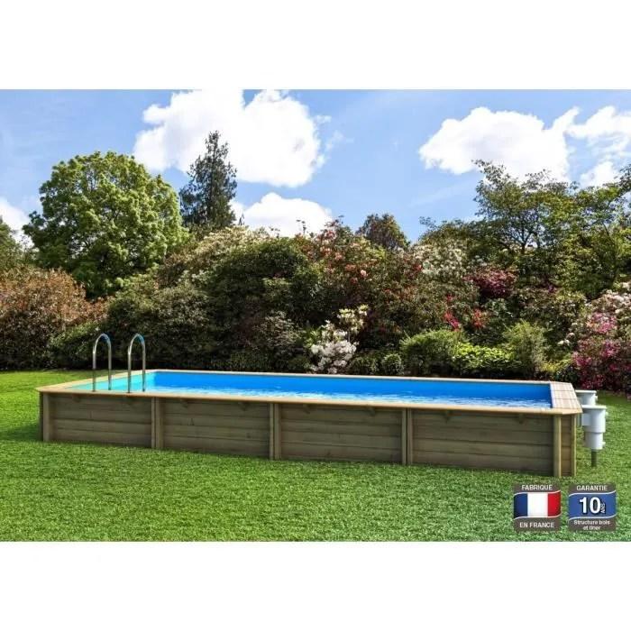 odyssea piscine bois 6x3 m h 1 33 m