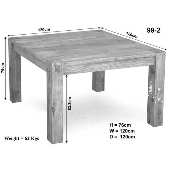 table a manger carree 120x120cm bois massif d acacia blanchi nature white 102