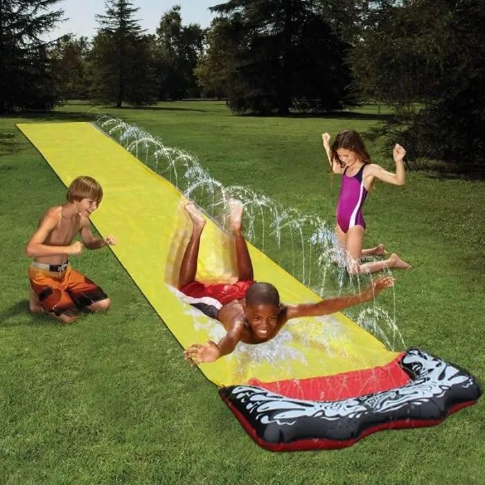 tapis de glisse geant double toboggan single eau p