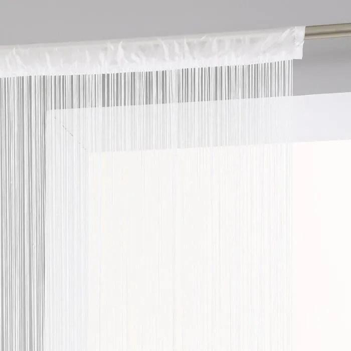 rideau fil 90 x 200 cm blanc