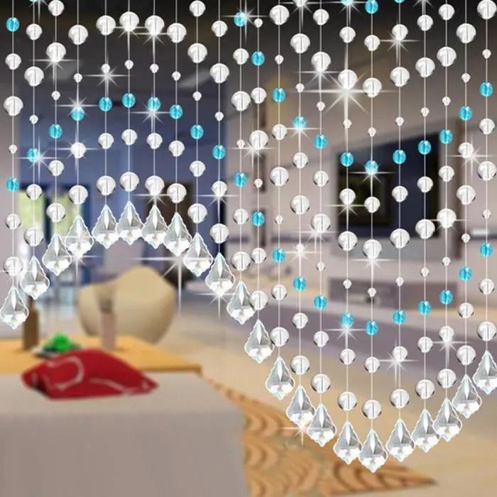 cristal verre rideau perle luxe salon chambre fene