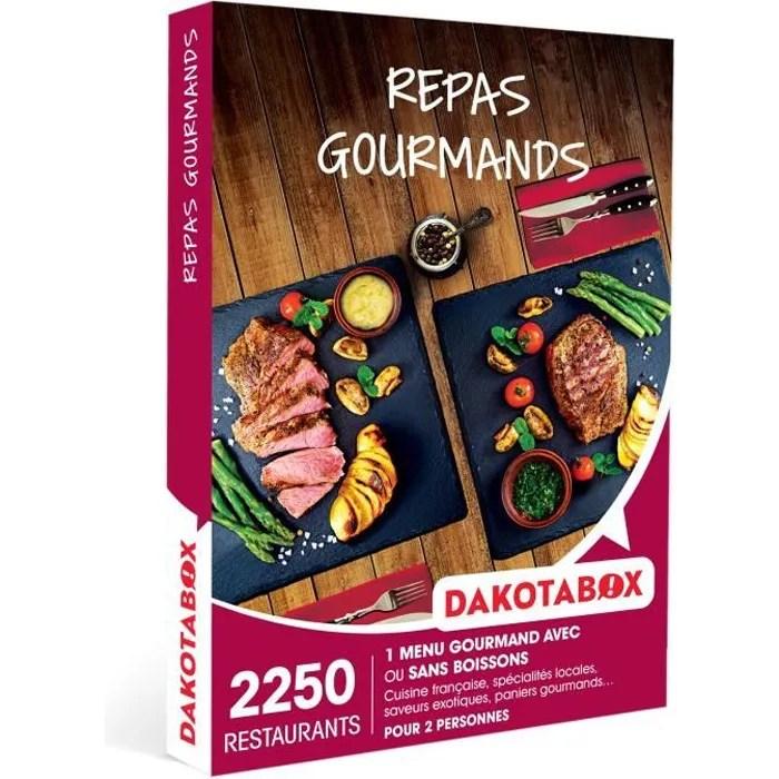 dakotabox coffret cadeau repas gourmands 1 menu gourmand avec ou sans boissons pour 2 personnes