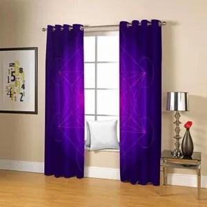 double rideaux violet