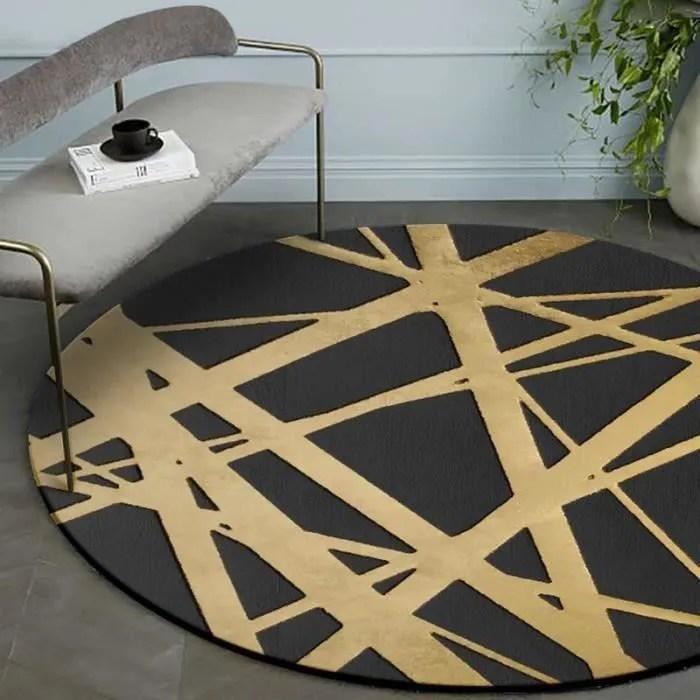tapis rond 160cm de diametre pour salon chambre