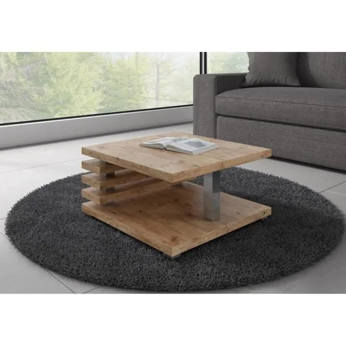 table basse carre bois