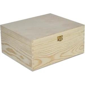 grande caisse de rangement bois