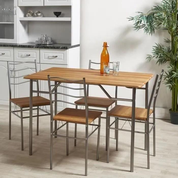 mirabel ensemble table et chaises de 4
