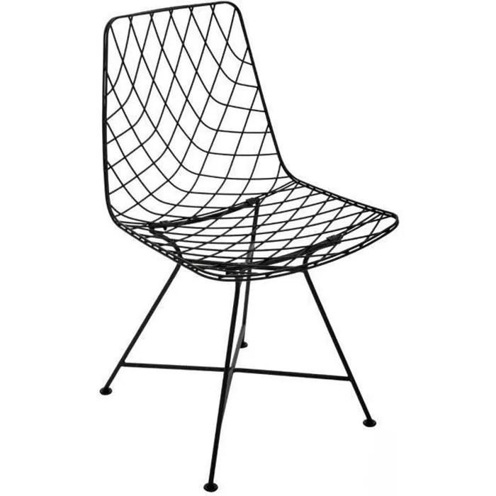 chaise filaire archi en metal noire