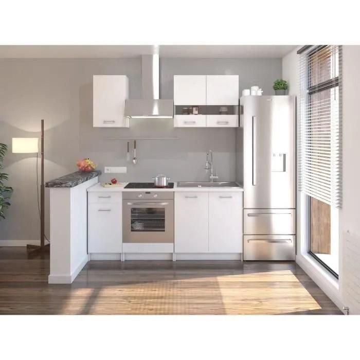 extra cuisine complete 5 elements 180 cm blanc mat
