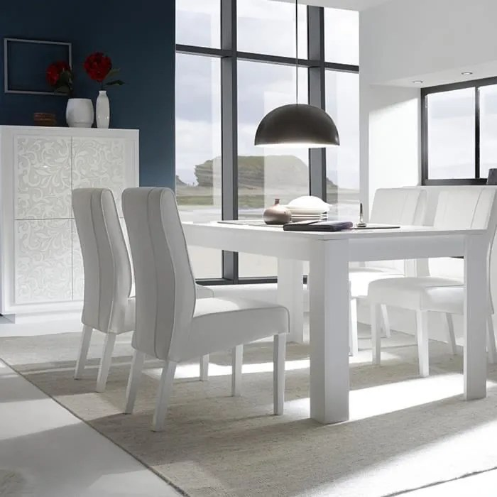 manger blanc laque mat design fantine