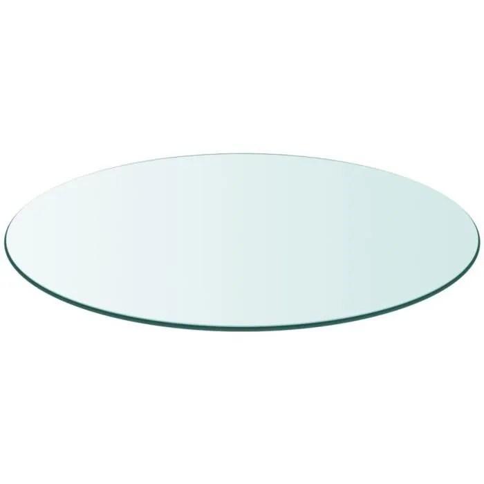 dessus de table ronde en verre trempe 300 mm pour tables basses les tables de jardin