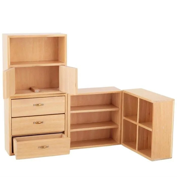lanqi 1 12 mini meuble en bois meubles salon chamb