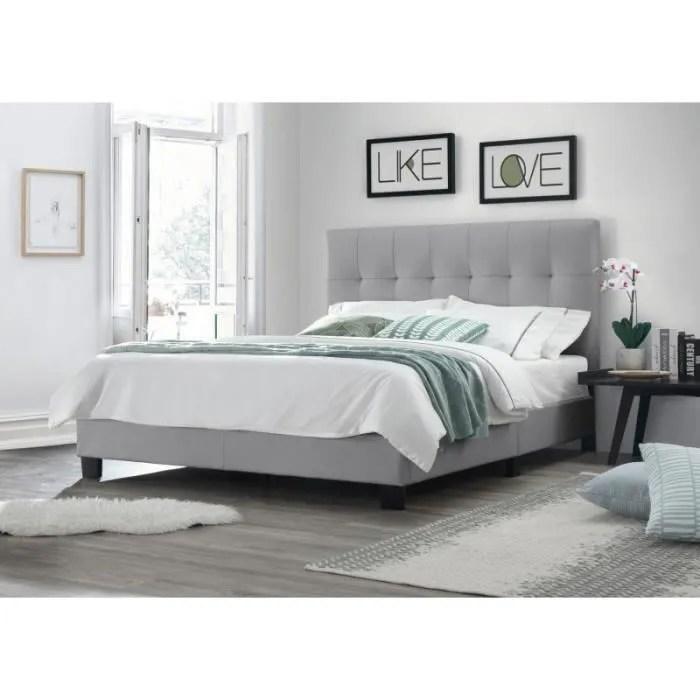 lit double gris 140x190 tete de lit
