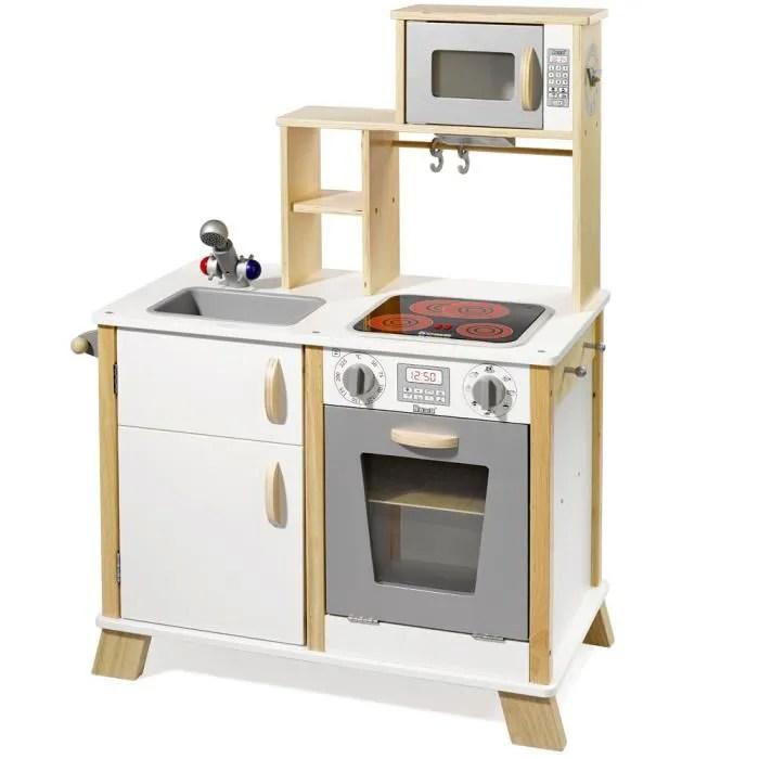 howa cuisine en bois pour enfant avec plaque de cuisson led 4820