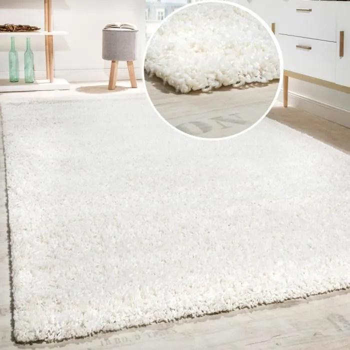 tapis shaggy longues meches en differentes tailles