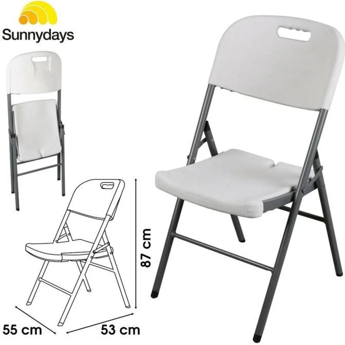 chaise pliante pliable reception reunion jardin exterieure plastique bureau