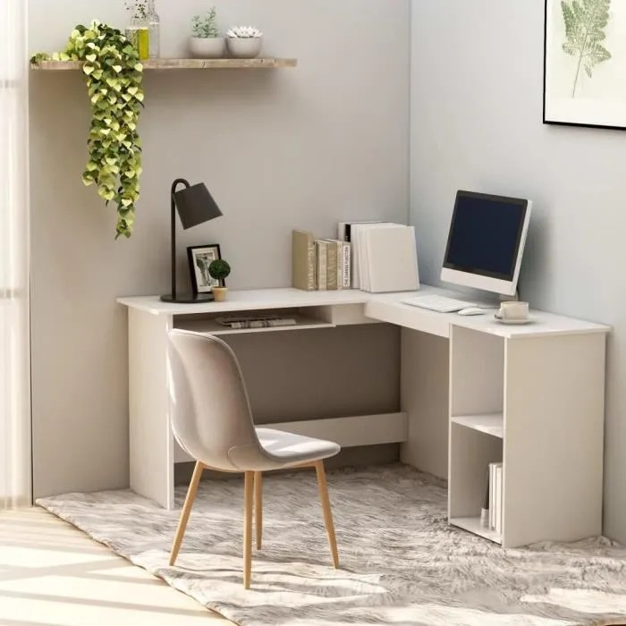 bureau d angle contemporain table d ordinateur mo