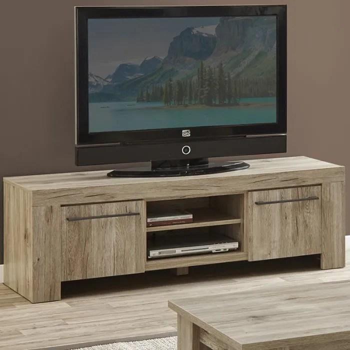 meuble tv contemporain couleur bois clair alena