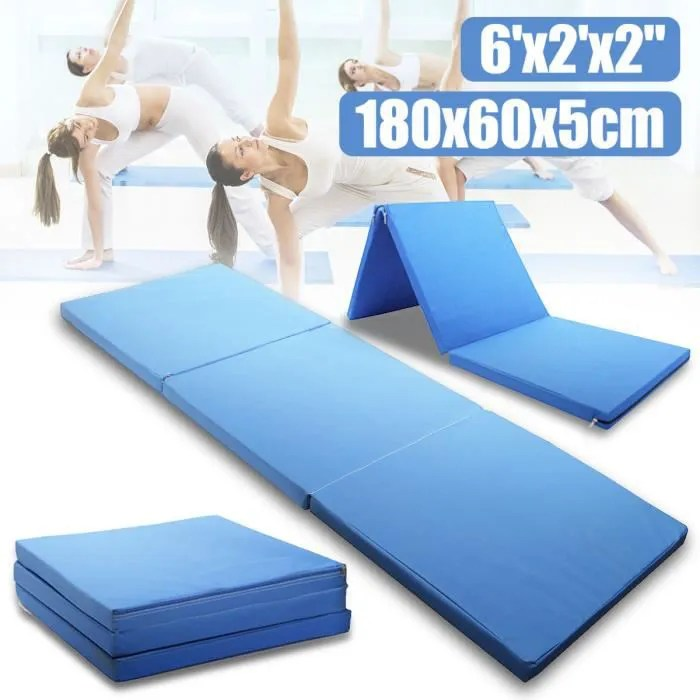 neufu tapis sol gymnastique fitness yoga sport pli