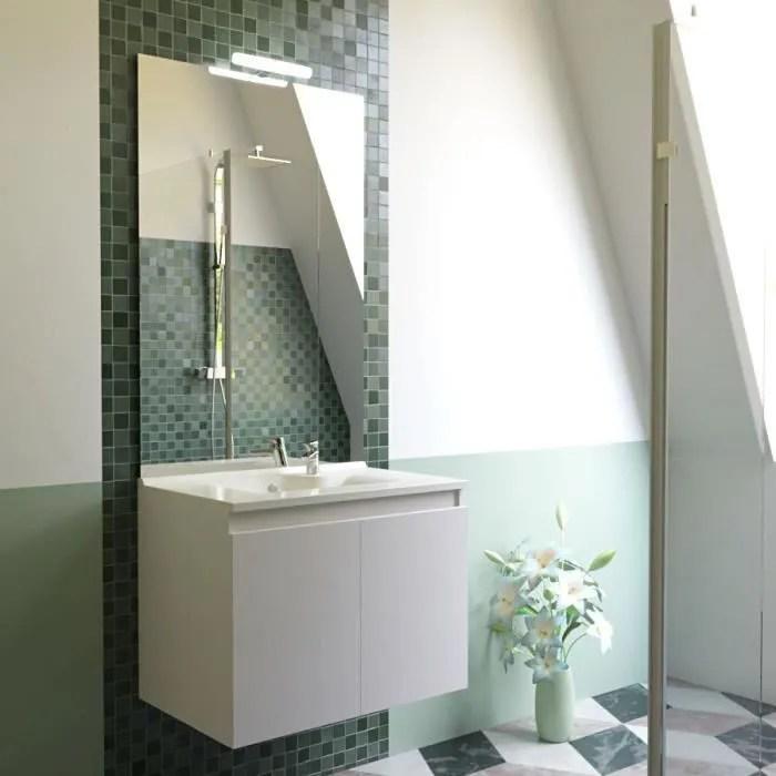 meuble salle de bain simple vasque proline 70 bl