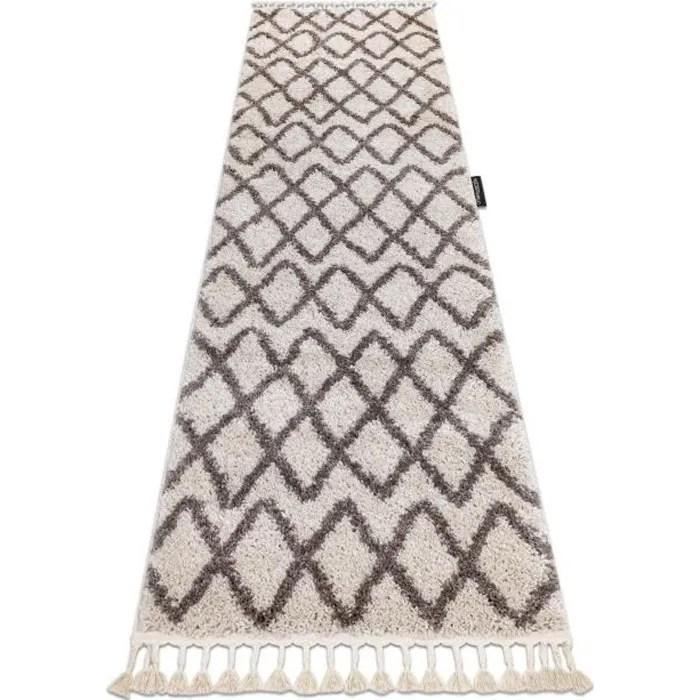 le tapis le tapis de couloir berbere beni creme