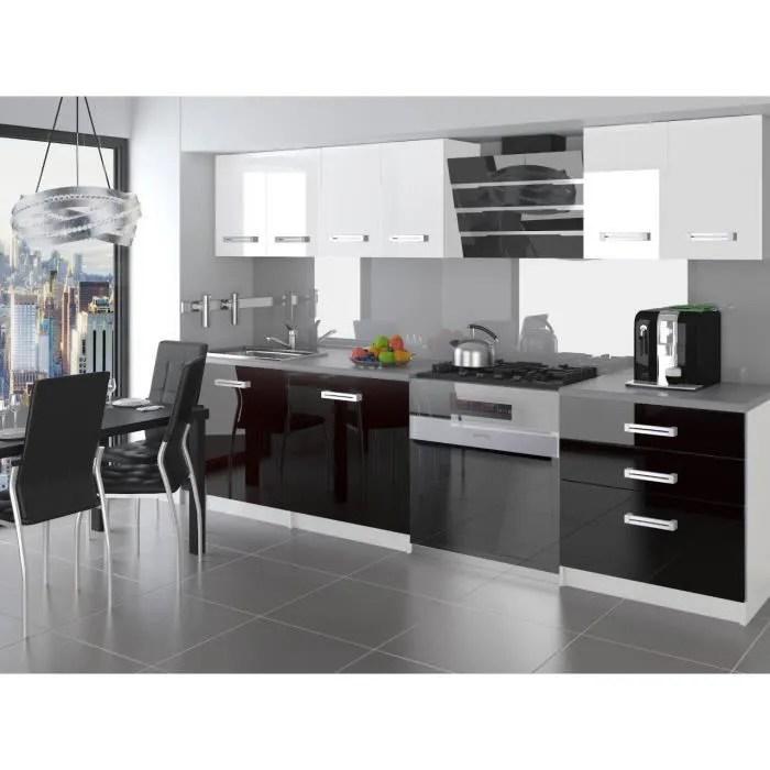 otello cuisine complete modulaire lineaire l 180cm 6 pcs plan de travail inclus meubles cuisine blanc noir gris