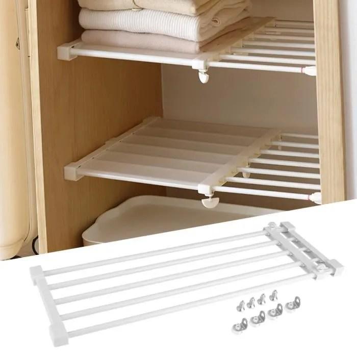 separateur d etageres plastique reglable rack de stockage extensible armoire placard