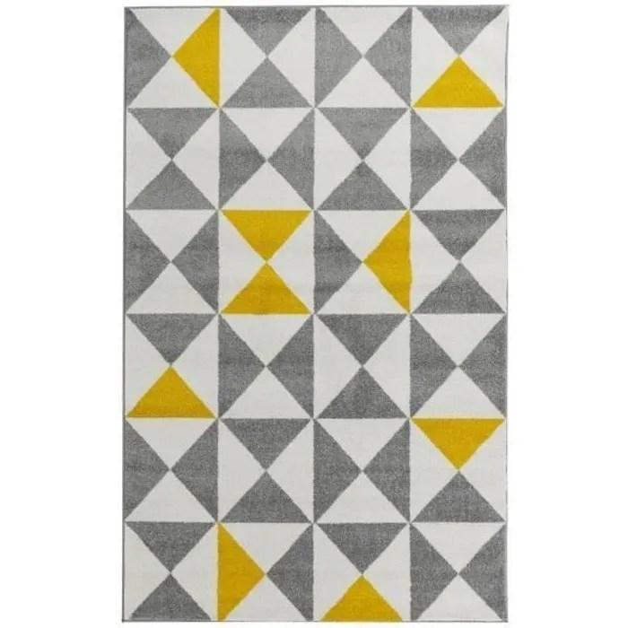 forsa tapis de salon en polypropylene jaune 16