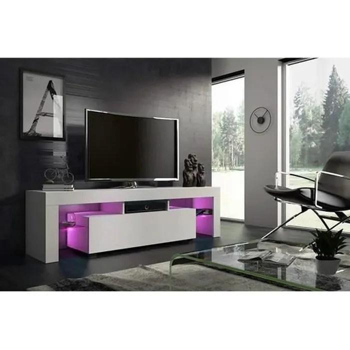 meuble tv blanc 160 cm