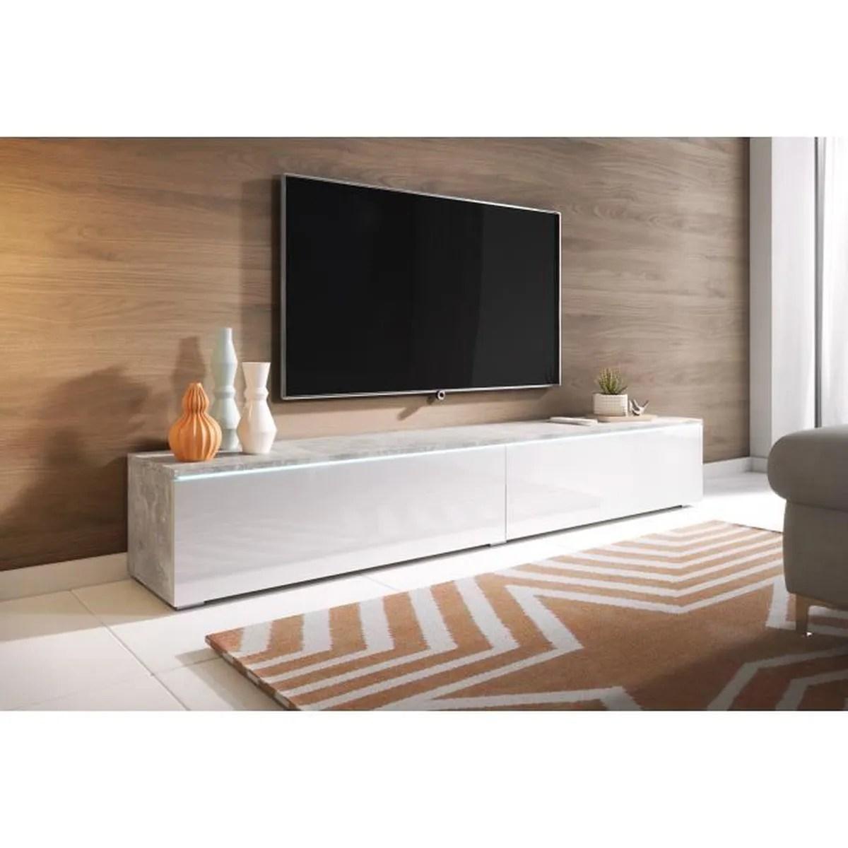 furnix prado double 200cm meuble tv
