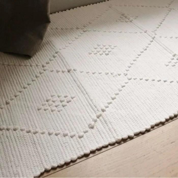 tapis lirette en coton coloris