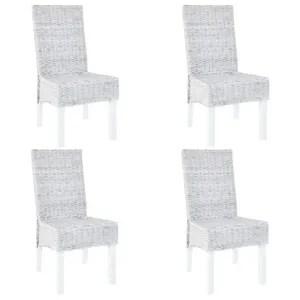 lot 4 chaises rotin