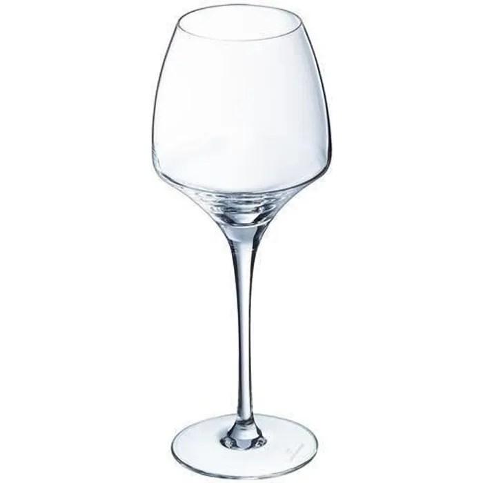 6 verres a vin universel 40cl open up chef sommelier cristallin design original 30 plus resistant