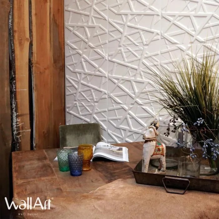 panneau mural 3d wallart mur 3d olivia 3m colle