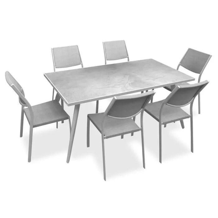plateau en gres 6 chaises assise