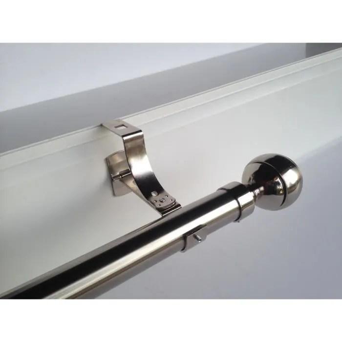 2 supports nickel de tringle a rideaux ᴓ 20mm pour