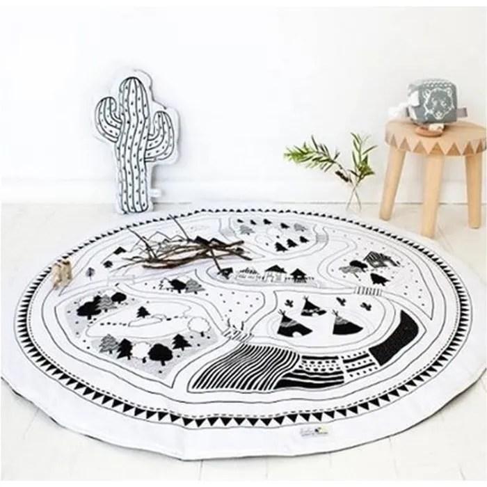tapis carpet enfant blanc en