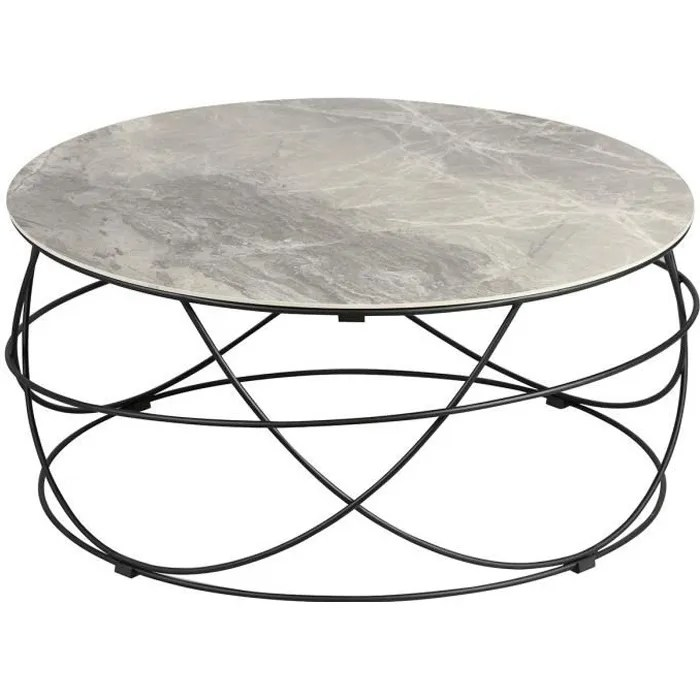 cathleen table basse ronde plateau ceramique