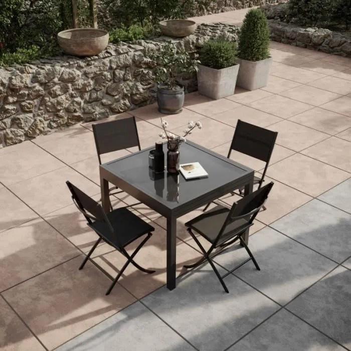 table de jardin extensible aluminium 90