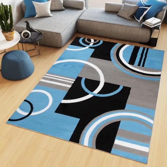 tapiso maya tapis salon chambre ado moderne geomet